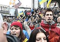 La protesta nella capitale ucraina
