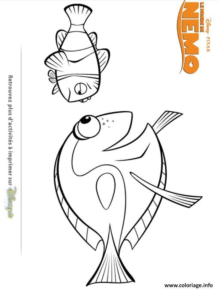 Coloriage Dory Et Nemo Dessin