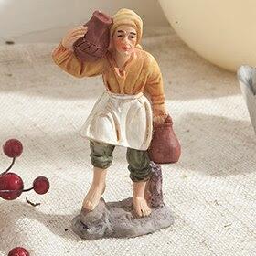 Figura de pastor con vasijas de 10,5cm