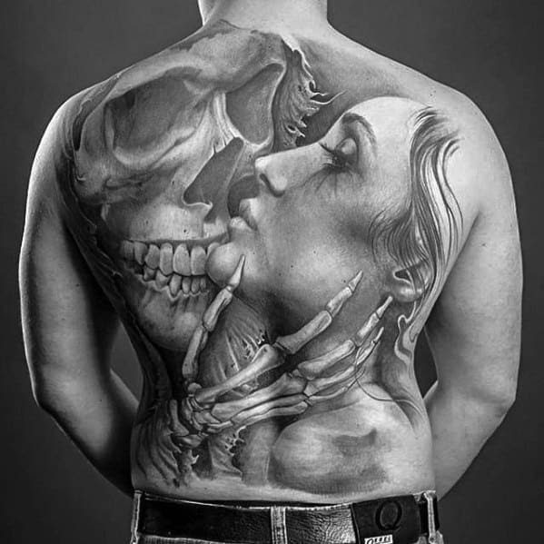 Skull Tattoos On Back