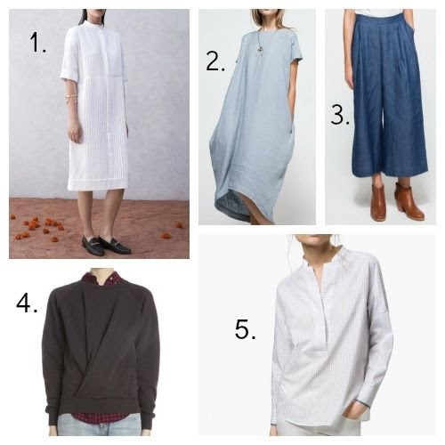 Trademark Dress - Black Crane Dress - Farrow Pants - Isabel Marant Etoile Sweatshirt - Massimo Dutti Shirt