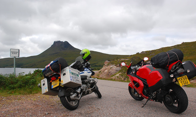 GS, Triumph and Stac Pollaidh