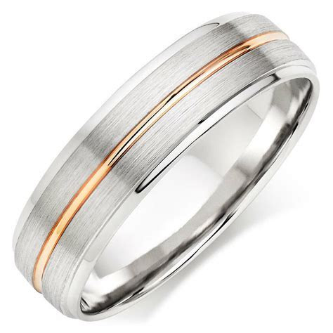 18K TWO TONE GOLD MENS WEDDING BANDS,ROSE GOLDWEDDING