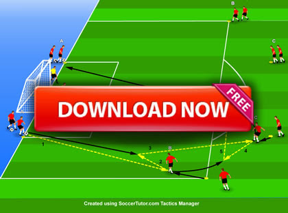 Louis van Gaal - Manchester United Pass and Finish Practice