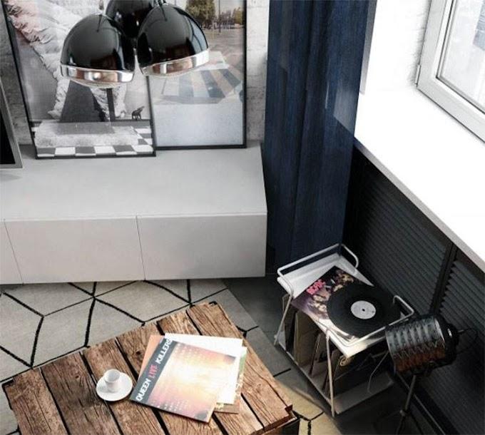 Ένα livingroom με έμπνευση από το σχεδιασμό των '70s και '80s