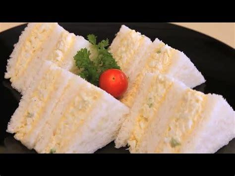 membuat sandwich roti tawar telur rebus enak