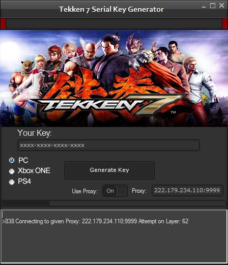 Hackallapk31 Free Tekken 7 Key Generator Hack Tool Online August 2018