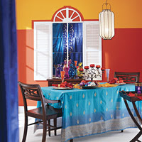 Orange wall room