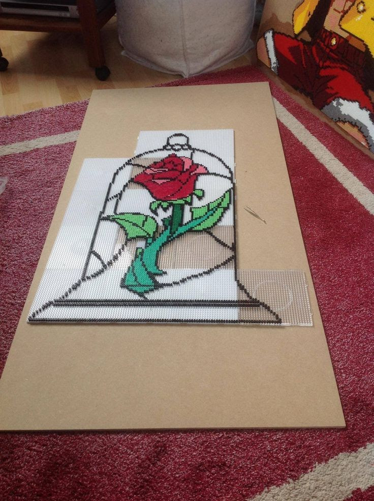 The rose - beauty and the beast | Cross Stitch and Perler Beads for ...