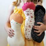 bambola nocciolina tutorial e cartamodello
