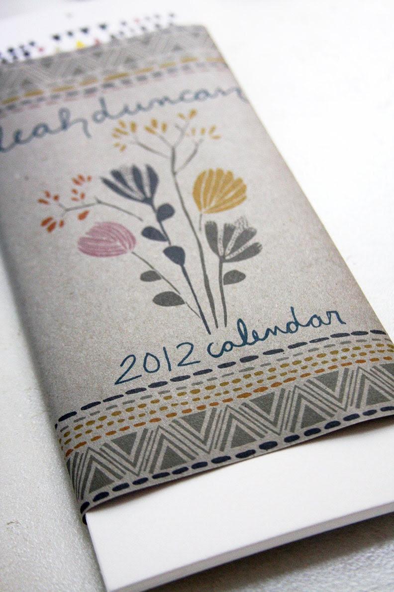 2012 12 Month Calendar