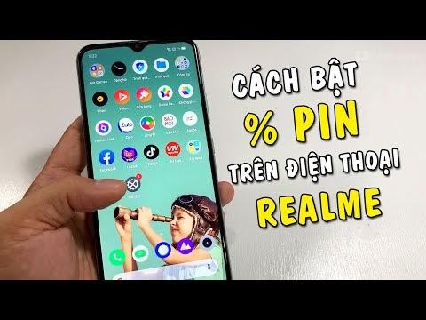 Hướng dẫn hiển thị phần trăm pin trên điện thoại Realme
