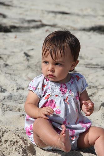 Jovie baby on the beach 8