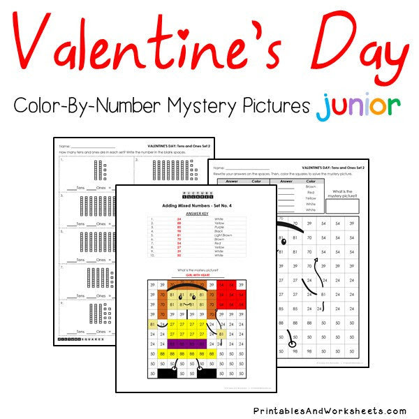Valentine's Day Place Value Color-By-Number - Printables ...