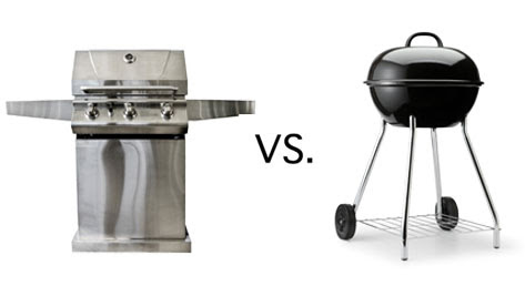 Gas grill vs. charcoal Grill, HoffPost Article,