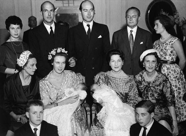 Dimitri And Michael Of Yugoslavia Baptized In Versailles In 1958