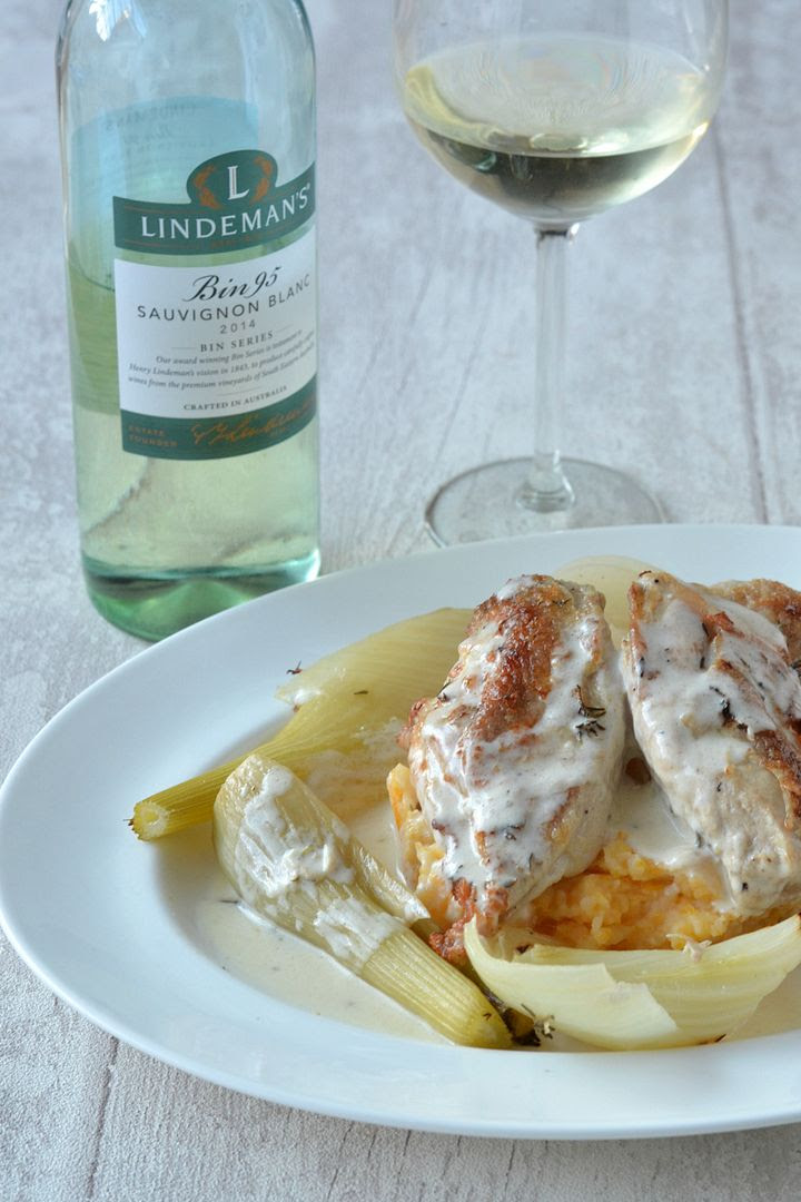 Chicken & Fennel in a Creamy White Wine Sauce