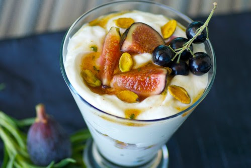 Greek Yogurt, Fig, and Black Currant Parfaits