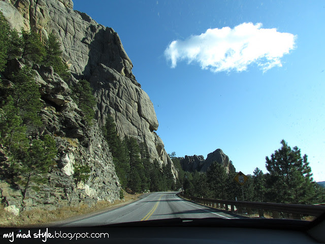 South Dakota Drive Up Mountain