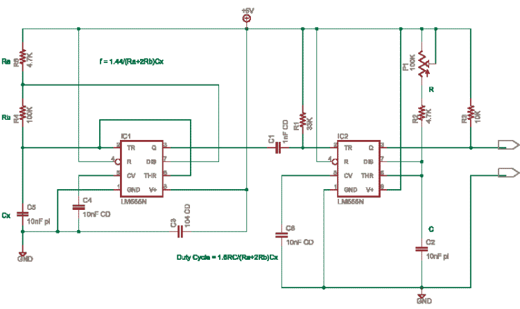 Fixed frequency Variable duty cycle with 555