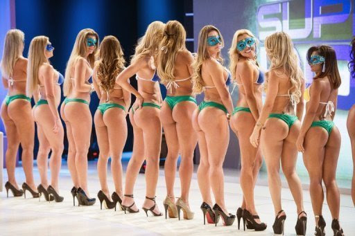Competitors in Brazil's Miss Bum Bum pageant