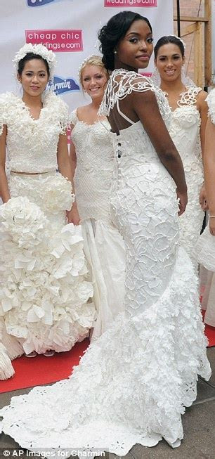 Annual Toilet Paper Wedding Dress Contest held in New York