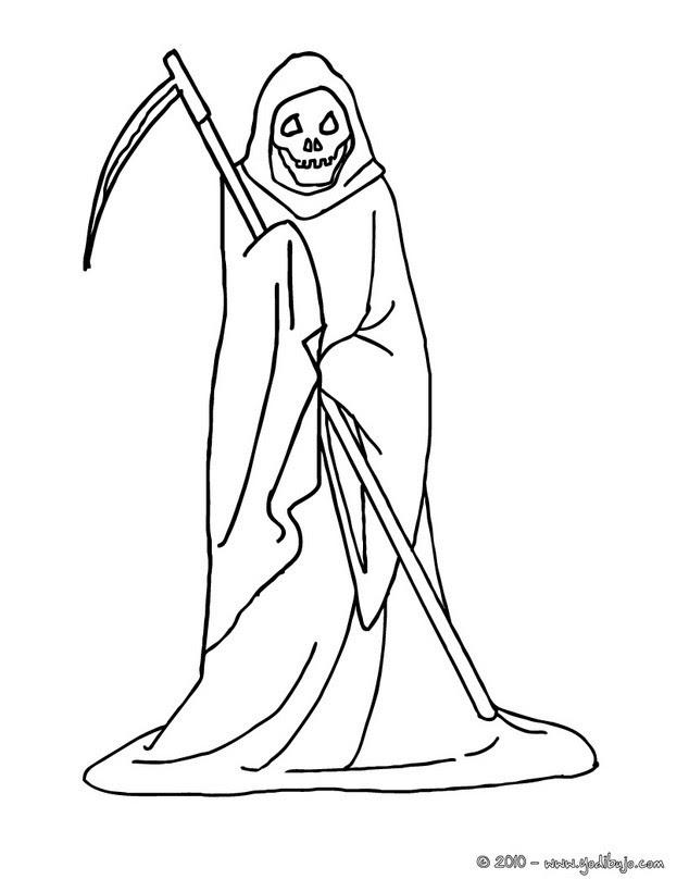 Dibujos Para Colorear La Muerte Con Segadera Halloween Es