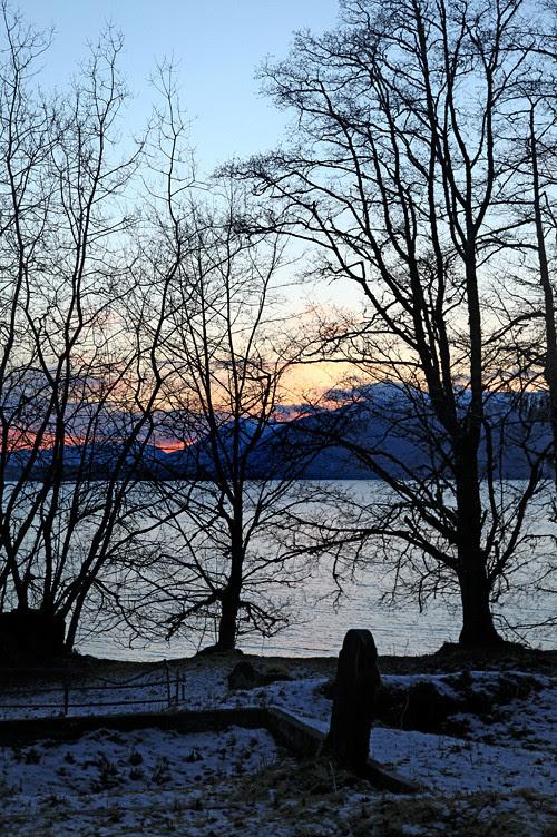 sunset at Kasaan Cemetery, Kasaan, Alaska