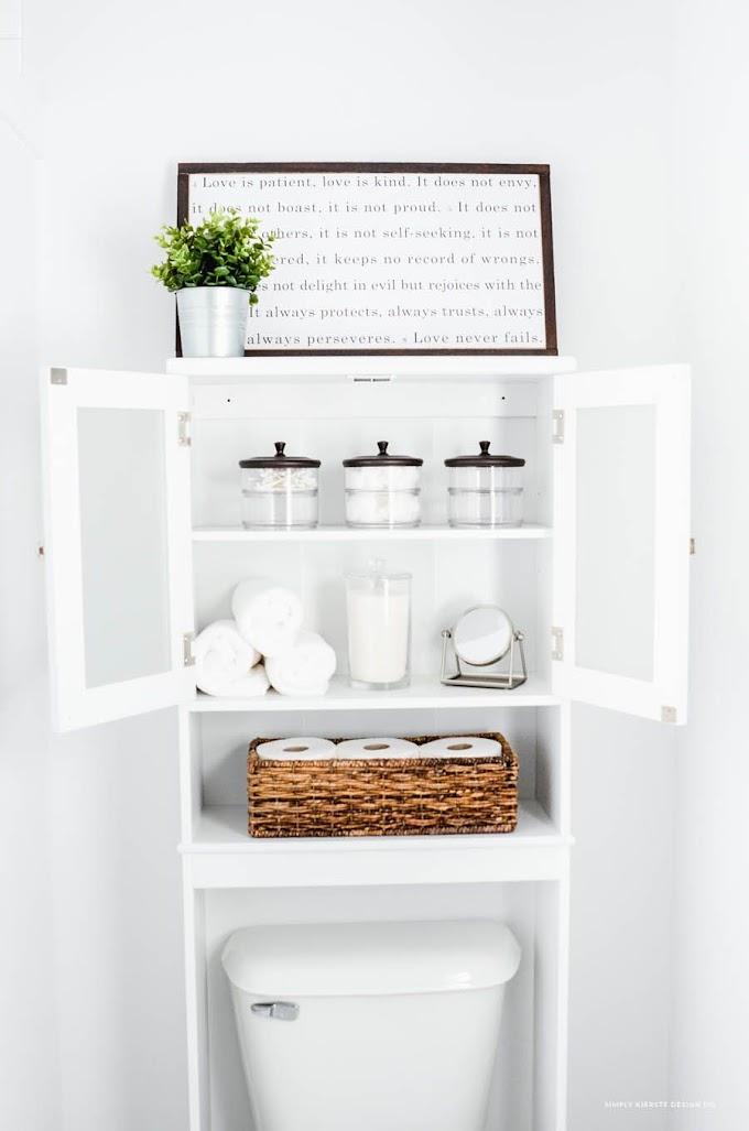 Tiny Bathroom Storage Space Saving Shelves