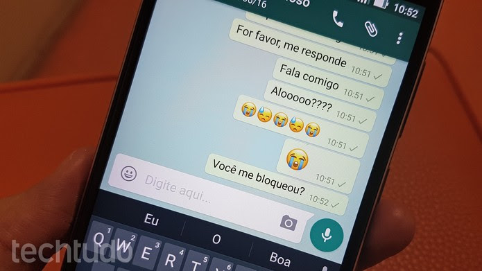 WhatsApp usuario bloqueado marca (Foto: Thássius Veloso/TechTudo)