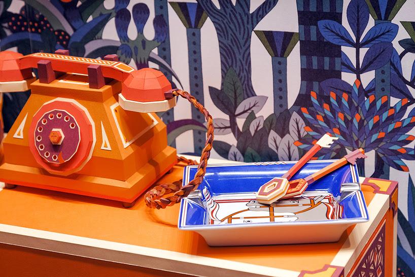 zim & zou the fox's den window for hermès in barcelona