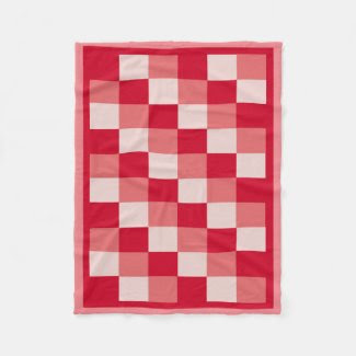 Red Color Field Fleece Blanket