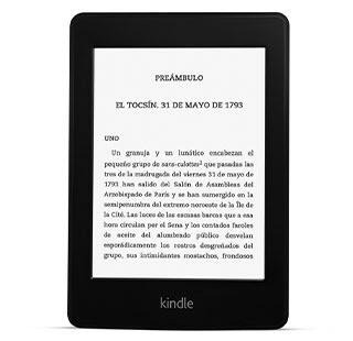 El e-reader Kindle Paperwhite