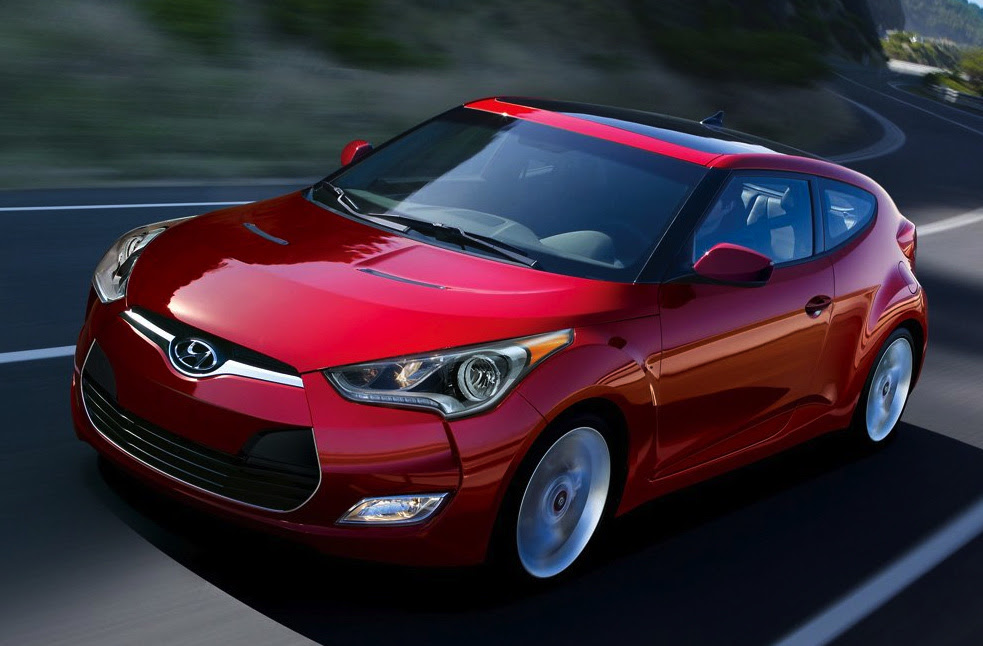 2014 Hyundai Veloster, Front-quarter view, exterior, manufacturer