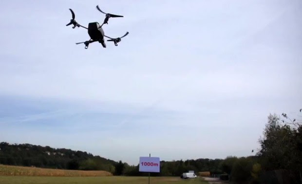 AlcatelLucent flies Parrot ARDrone 20 over 3,280 feet with LTE reach out and buzz someone video