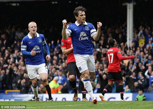Fan favourite: Everton were fantastic in the first half