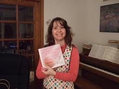 Cori with cupcake book