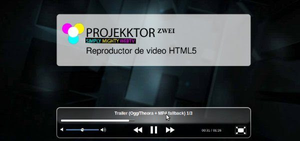 Projekktor – Reproductor de video HTML5