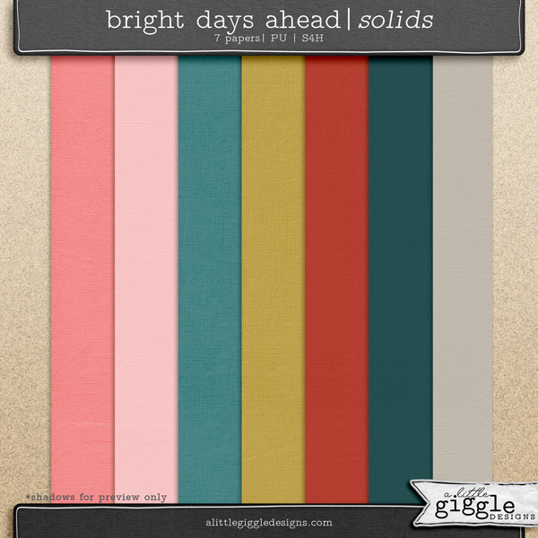 Bright Days Ahead Textured Solid Papers Pack Freebie