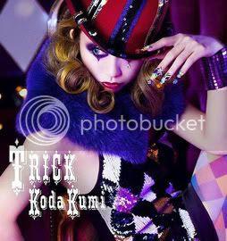 Kumi Koda's 'Trick' album cover [CD & 2xDVD version]