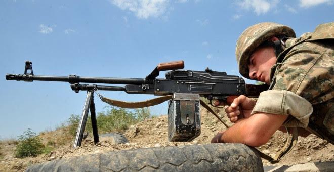 Soldado del Ejército armenio./AFP