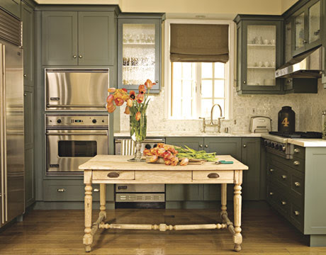Obsessing Over: Green Grey Kitchens « Elements of Style Blog
