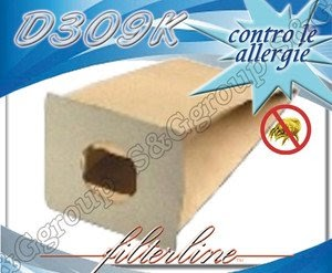 D309K 8 sacchetti filtro carta x Philips London HR 6184