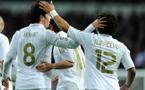 Liga BBVA: Real Madrid-Zaragoza: Kaka, Marcelo
