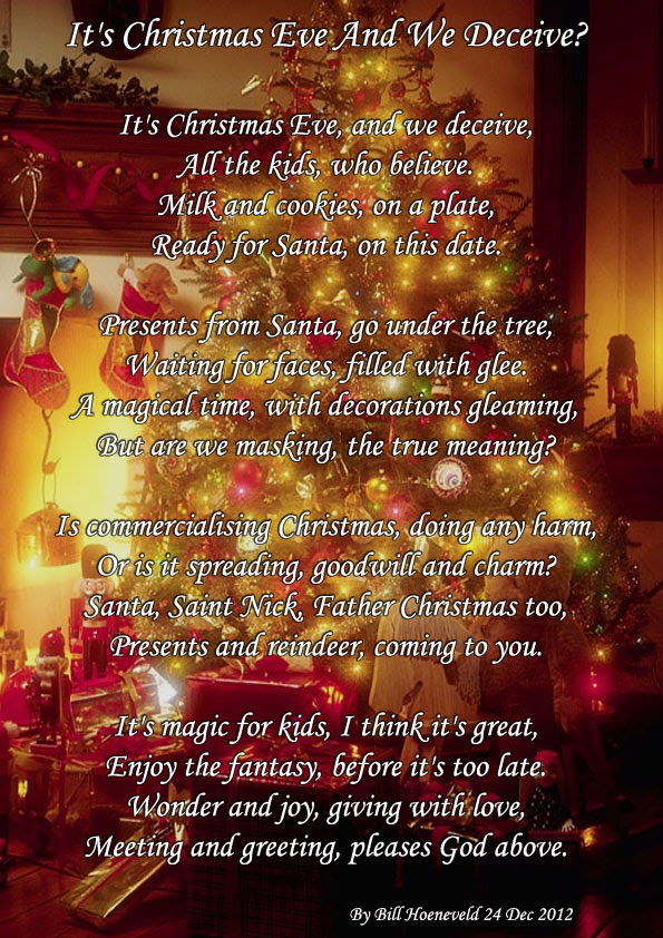 Its Christmas Eve And We Deceive Holiday Poems