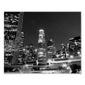 Black And White Cityscape 13 Poster