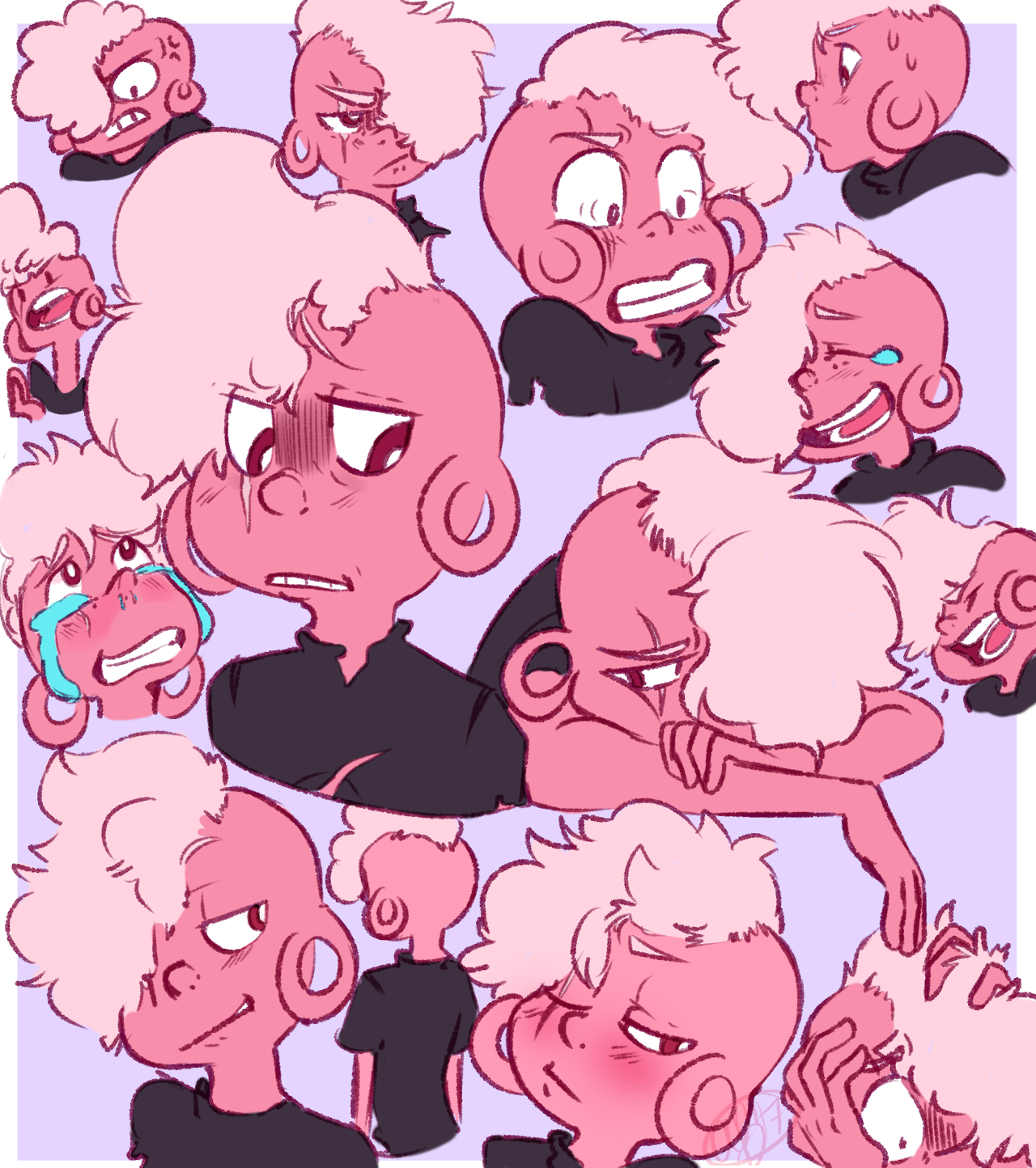 WOW I really love this cotton candy boy. Just a reminder I have Steven Universe charms up for pre-order on my storenvy. There is a link in the description of my blog.