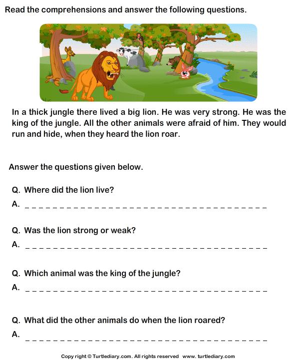 Reading Prehension Stories Worksheet 9 Turtle Diary