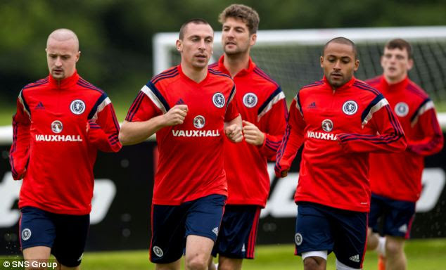 Warning: Police have issued a warning to FIFA of potential match-fixing at tomorrow's friendly clash between Scotland (squad pictured training) and Nigeria at Fulham's Craven Cottage ground in London