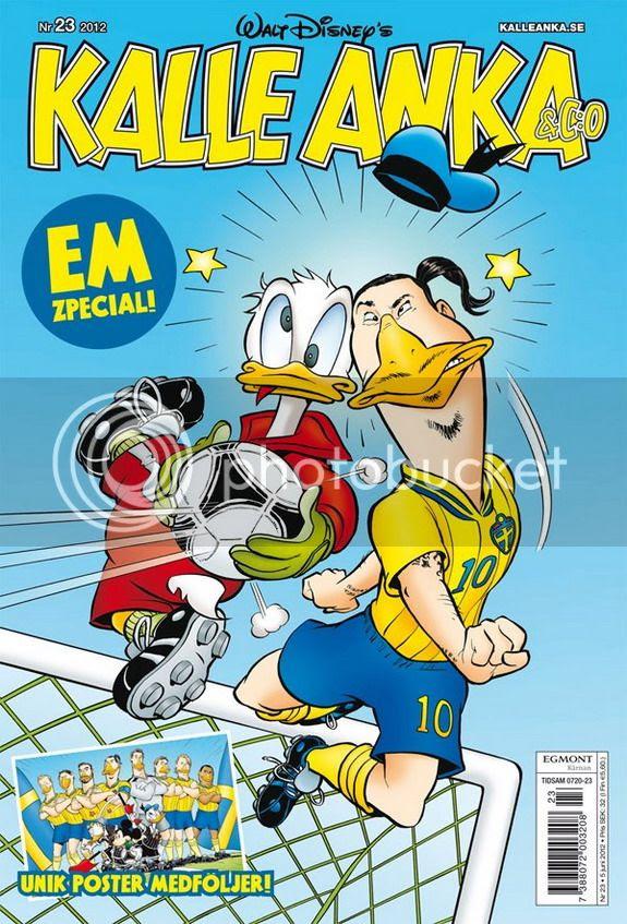 Zlatan Ibrahimović clashes with Donald Duck